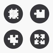 Vector modern puzzle  icons set Stock Illustration