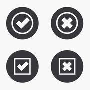 Vector modern vote  icons set - stock illustration