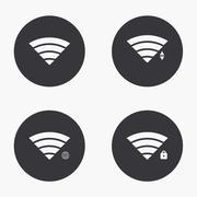 Vector modern wi fi  icons set Stock Illustration