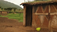 Maasai house Stock Footage