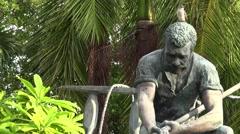 The Key West Historic Memorial Sculpture Garden zoom Stock Footage