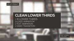 Clean Lower Thirds - stock after effects
