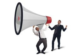 Business powerful speech - stock photo