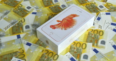 Apple launched sales of the iPhone 6s and 6s Plus on September 25 Stock Footage