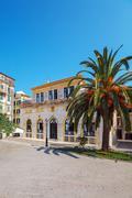 Corfu City Hall (previously: Nobile Teatro di San Giacomo di Corfu), Greece - stock photo