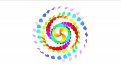 4k Spin wheels,spiral windmill,wind fan,energy firework particle fire art petal - stock footage