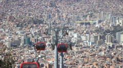 BOLIVIA aerial tramway, cable car, ropeway, aerial tram Stock Footage