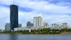 Donaucity and DC Tower, Vienna, Austria Stock Footage