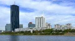 Donaucity and DC Tower, Vienna, Austria - stock footage