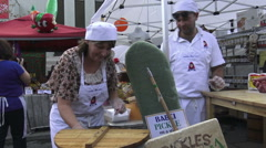 Food Vendors at Roncesvalles Polish Festival, Toronto 2015 Stock Footage