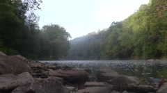 Calm Juniata River in Pennsylvania Stock Footage