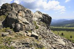 Stock Photo of Top Mount Tiyahty of Altai Mountains