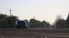 Truck on the highway Stock Footage