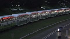 GO Train Toronto Stock Footage