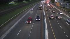 Toronto Highway at Night 4k Stock Footage