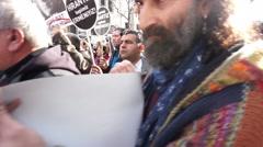 Hrant Dink Memorial Walk Stock Footage