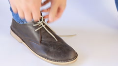 Men's  shoes White Background Stock Footage
