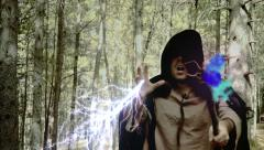 Wizard magic forest Stock Footage