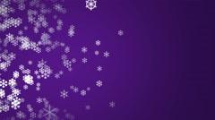 Half pane snowflakes purple Stock Footage