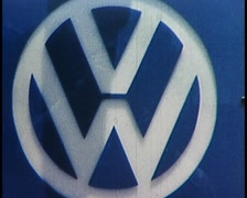 VOLKSWAGON CAR FACTORY, (ARCHIVE FOOTAGE) Stock Footage