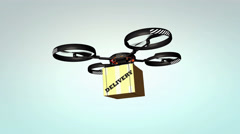 Drone delivery, new technology Stock Footage