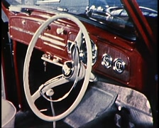 VOLKSWAGON BEATLE INTERIOR (ARCHIVE FOOTAGE) Stock Footage