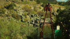 USGS water experiment river in colorado - stock footage