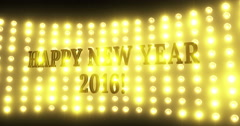 Happy New year 2016 4k light background Stock Footage