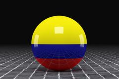 Colombia flag - stock illustration