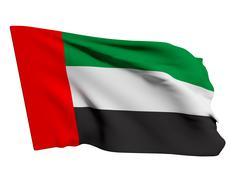 United Arab Emirates flag - stock illustration