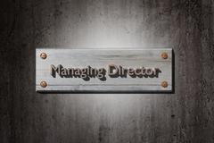 Managing director placard - stock illustration