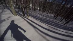 Freerider snowboarder Stock Footage