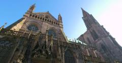 Strasbourg Cathedral or the Cathedral of Our Lady of Strasbourg Stock Footage