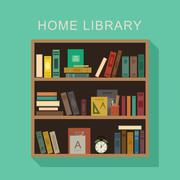 Home library. - stock illustration