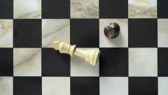 Chess king defeated Stock Footage