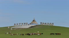 Natural Charm of  Inner Mongolia Grassland - stock footage