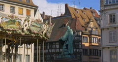 Strasbourg  is the capital and principal city of the Alsace region in France Stock Footage