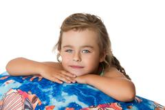 Beautiful little blonde girl Stock Photos