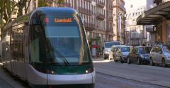 The Strasbourg tramway run by the CTS Stock Footage