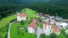 Beautiful village in the middle of a nature Stock Footage