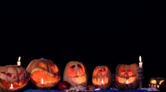 Spooky Little Ghosts Scaring And Frightening At Halloween Stock Footage