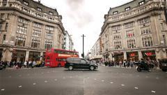 Oxford Circus traffic, London, UK - stock footage