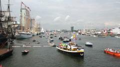 Ships at Sail Amsterdam Stock Footage