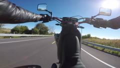Motorcycle wheelie chest pov 60fps Stock Footage