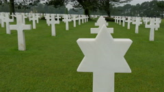 One of the star tomb from the Normandy cemetery - stock footage