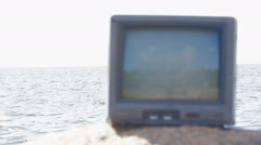 concept of television and world - stock footage