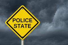 Police State Caution Road Sign Stock Photos