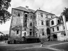 Jezeri castle in northern Bohemia Stock Photos
