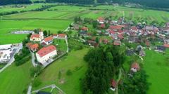 Beautiful village Stock Footage