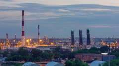 industrial night - stock footage